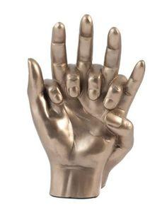 Art Nouveau Bronze Entwined Lovers Hands Sculpture