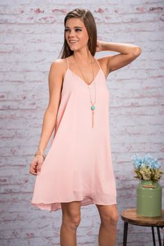 Stay With Me Dress, Rose Quartz || Hold on to your hats, gals, because we have got a gorgeous rose quartz dress that is just what you've been looking for! The soft color is so stunning and exactly what we want for spring time! That loose fit ain't to bad, either! ;)