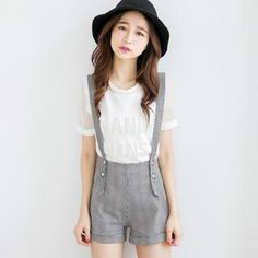 Patterned Suspenders Shorts from #YesStyle <3 Tokyo Fashion YesStyle.ca