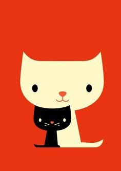 Cats by Dicky Bird