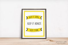 Printable wall art print - 8x10 INSTANT DOWNLOAD - Keep it Real