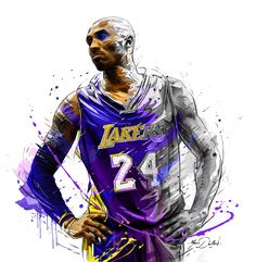 My painting of Kobe Bryant.