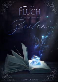 Fantasy Premade Buchcover: Fluch der verborgenen Zeilen –VERFÜGBAR Dark Romance, Buch Design, Fantasy, Movie Posters, Book Nooks, Authors, Film Poster, Fantasy Books, Fantasia