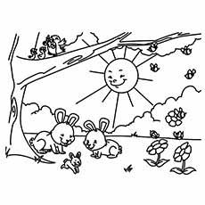 Download Summer Coloring Pages