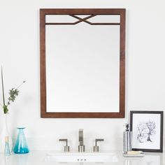 "Abigail 30"" H x 24"" W Framed Wall Mirror. I love this very classy mirror. It highlights the nickel plated water faucet in your bathroom. Upgrade your bathroom's appearance. AFFILIATE LINK"