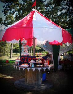 DIY Carnival Party Big Top Tent - Southern Revivals