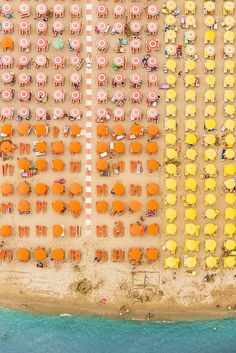 Bernhard-Lang-Aerial-Beaches-13 #pink #yellow #orange