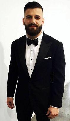 Mens Fashion Suits, Mens Suits, Beard Suit, Beard No Mustache, Moustache, Beard Love, Bearded Men, Hairy Men, Awesome Beards