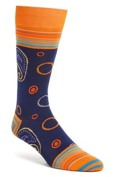 Bugatchi Paisley Socks available at #Nordstrom