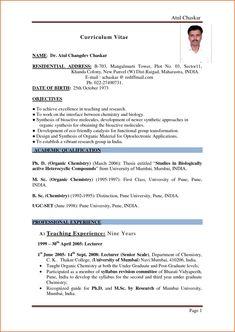 Phd applying resume