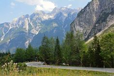 One of the best ways to experience Triglav National Park is to take a drive on the Vrsic Pass (Vršič Pass) through the Julian Alps.