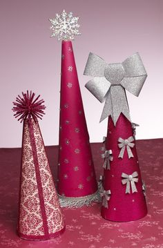 http://paintmeplaid.com/2011/12/01/teaching-thursdays-mod-podge-crafty-christmas-trees/