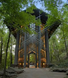 Thorncrown  Chapel, in eureka springs Arkansas,  was designed by world renowned architect E. Fay Jones. Fay was born in  Pine Bluff, Arkansas in 1921. He studied at the University of Arkansas, Rice  University, the University of Oklahoma, and finally under his mentor Frank  Lloyd Wright at the Taliesin Fellowship.