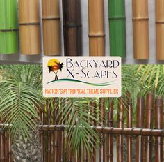 We, at Backyard X-Scapes, have faux bamboo poles for all your tropical-themed home improvement projects. Bamboo Poles For Sale, Bamboo Panels, Rope Fence, Bamboo Fence, Tiki Pole, Outdoor Fencing, Buy Bamboo, Now And Forever, Home Improvement Projects