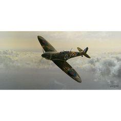 Evening Glory Aviation Art Print by Philip West Signed Geoffrey Wellum Prints - WW2