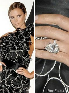 Victoria Beckhamu0027s 3ct Marquise Cut Diamond Engagement Ring