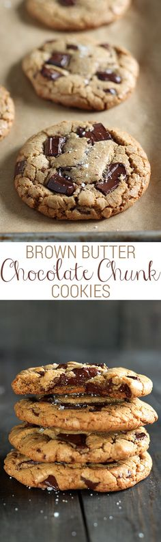 Brown Butter Chocolate Chunk Cookies Recipe @handleheat
