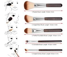 Professional Makeup Brush Set Professionelles Make-up Pinsel Set Makeup Brush Uses, How To Wash Makeup Brushes, Eye Makeup Brushes, Makeup Dupes, Lip Makeup, Professionelles Make Up, Pinterest Makeup, Makeup Guide, Professional Makeup