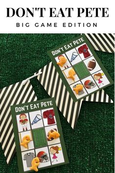 Don't Eat Pete: Big Game Edition and Free Printable Game Cards and Goldfish Crackers from Fun Games, Games To Play, Goldfish Crackers, Quick And Easy Crafts, Card Games, Game Cards, Game Pieces, Big Game, Free Printables