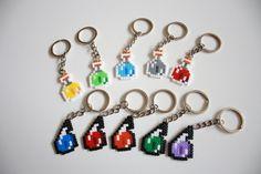 Minecraft llaveros. Pociones Minecraft Hama beads por DecorarteLeon, €1.40