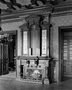 antique Federal fireplace mantel - Lockwood-Mathews mansion museum - - #fireplace #fireplaces #fireplacemantels