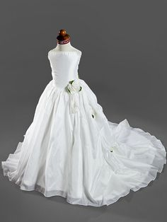 Ball Gown Court Train Flower Girl Dress - Satin/Taffeta Sleeveless - USD $99.99