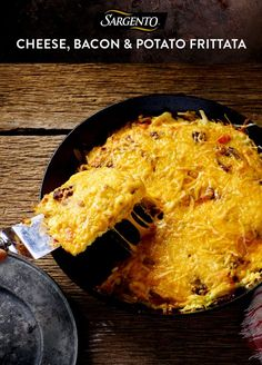Bacon, eggs, potatoesbacon. And a hearty amount of Sargento Shredded Taco and Nacho Cheese. Now that's a zesty breakfast idea we can…