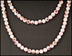 White Millefiori Necklace by floweravenue on Etsy, $22.00