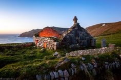 Ruined Church, St Helen's Oratory, at Cape Cornwall, England. I photographed…