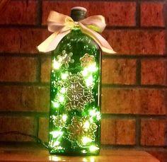 flaschen lampe mit serviettentechnik nordahage alles vom blog pinterest. Black Bedroom Furniture Sets. Home Design Ideas