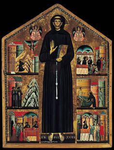 "Bonaventura Berlinghieri (fl. 1228–1274), ""Saint Francis of Assisi Altarpiece,"" 1235. San Francesco, Pescia #nyusurvey2"