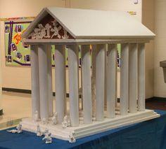 Templo de Atenea hecho por niños