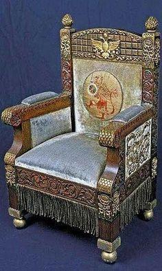 Tsarevich Alexei Nikolaevich Romanov's chair at the Alexander Palace.A♥W
