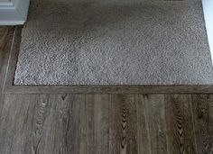 An easy way to transition carpeted stairs into laminate or hardwood flooring.