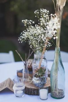 rustic centerpiece by britney