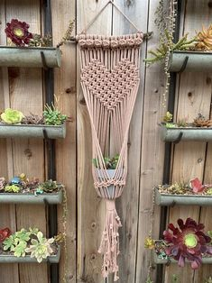 Macrame Plant Hanger Patterns, Macrame Wall Hanging Diy, Macrame Patterns, Driftwood Macrame, Macrame Art, Macrame Projects, Wall Plant Hanger, Macrame Design, Boho Decor
