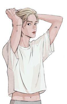 Kpop Drawings, Cute Drawings, Manga Art, Anime Art, Foto Top, Nct Taeyong, Fanarts Anime, Kpop Fanart, Nct Dream