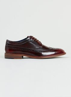 Delta longwing burgundy leather brogues by Topman — Thread