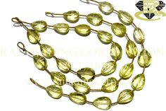 Lemon Quartz Concave Cut Pear (Double Cut) (Quality AA+) Shape: Pear Concave Cut Length: 18 cm Weight Approx: 11 to 13 Grms. Size Approx: 10x14.50 to 11x14.50 mm Price $37.00 Each Strand