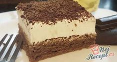 Delicious chocolate mascarpone cake- Köstliche Schoko-Mascarpone-Torte A creme cake suitable for various celebrations. The mascarpone filling is very fine and delicious. And inside, a surprise in the form of liquid nut chocolate. So delicious! Czech Desserts, Cookie Desserts, No Bake Desserts, Delicious Chocolate, Delicious Desserts, Yummy Food, Tasty, Sweets Recipes, Baking Recipes
