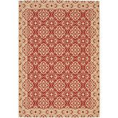 Found it at Wayfair - Courtyard Red / Creme Outdoor Area Rug