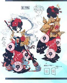 FGO -EoR III- (Shimosa), Chapter The Demon and the Rakshasa (Earth) (Translated) Character Concept, Character Art, Concept Art, Fantasy Warrior, Fantasy Girl, Fantasy Characters, Anime Characters, Character Turnaround, Katsushika Hokusai