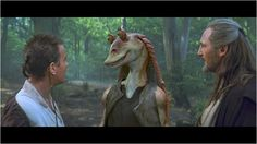 Star Wars : Episode I - La Menace fantôme / Obi-Wan Kenobi, Jar Jar Binks, Qui-Gon Jinn / © Twentieth Century Fox France