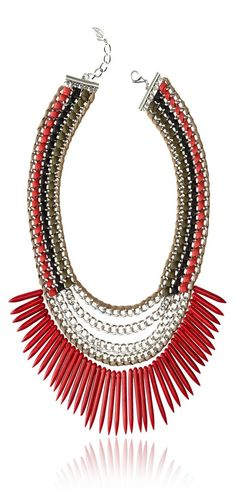 Sara Designs Italian Leather & Red-Colored Turquoise Necklace ♥✤ | KeepSmiling | BeStayBeautiful