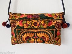 Bronze Orange Purse Cross Over Bag Handmade by Hmong Hill Tribe Thailand | eBay