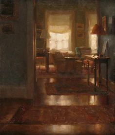 Jacob Collins, Interior II, Oil on Panel, 12 x 10 inches, 2009  http://www.johnpence.com/visuals/painters/collins/images/interiorII.jpg