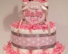 Bebé niño pañal pastel pieza central de la por AriasBabyCakesNMore