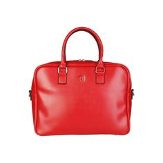 Laptop bag- Briefcase and computer bag of saffiano eco-leather.- Adjustable and removable nylon strap- Internal organization with padded laptop compartment and Second Hand Mode, Second Hand Online, Second Hand Kleidung, Briefcase Women, Mode Online Shop, Computer Bags, Laptop Bag, Designer, Red And White