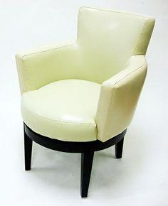 Armen Living LC247ARSWCR - Cream Leather Swivel Club Chair | Sale Price: $376.20