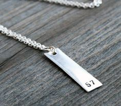 Number Necklace  sterling silver hand stamped by GenuineArticle, $25.00